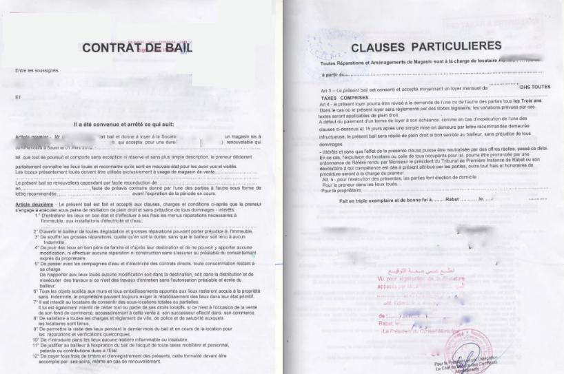 Modele bail terrain communal document online - Office des proprietaires contrat de bail type ...