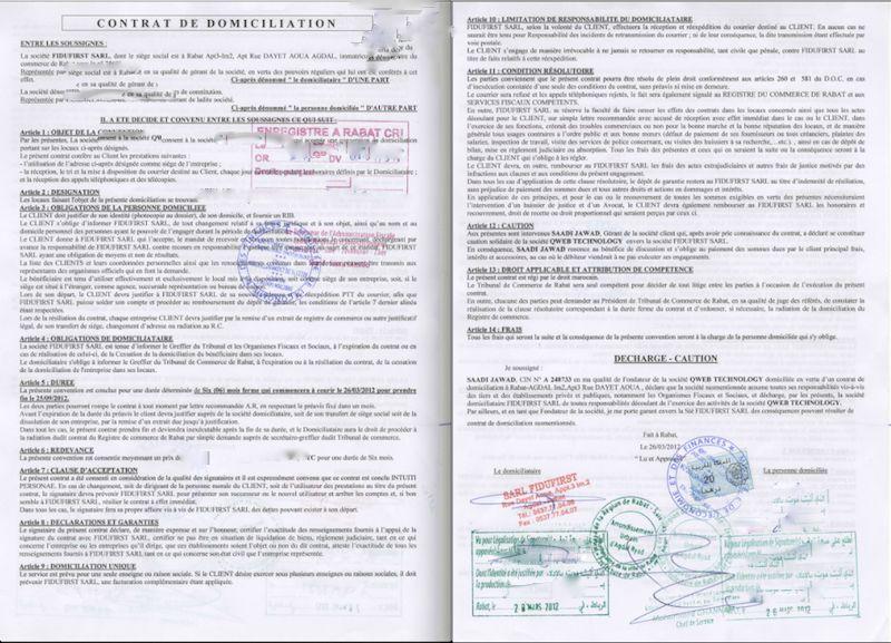 Etablir Un Contrat De Bail Ou Une Attestation De Domiciliation