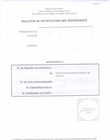 Bulletin de notification des identifiants